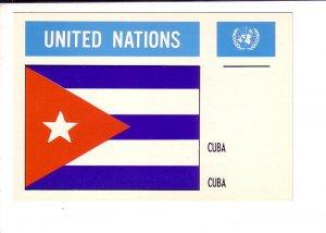 Cuba, Flag, United Nations.