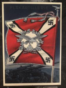 Mint Germany Patriotic Postcard Flakartillerie Wehrmacht