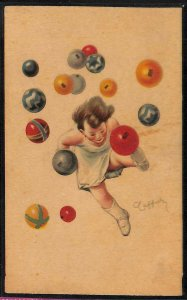 Lib832 - CARTOLINA d'Epoca PUBBLICITARIA Illustrata: PALLONE PIRELLI Cappiello