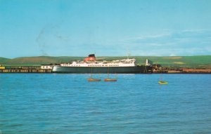 MV Aisla Princess Sealink Ship 1970s Postcard