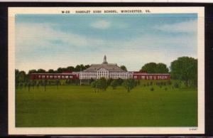 Virginia Postcard Handley High School Winchester