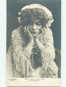 rppc Pre-1907 Leslie Carter - Movie History AMERICAN SILENT FILM ACTRESS AC8032