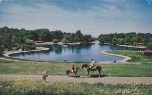 Beaver Lake,  Mt. Royal Park,  Montreal,  Quebec,  Canada,  PU_1959