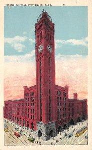 Chicago Train Postcard Grand Central Station Chicago, IL., USA Unused