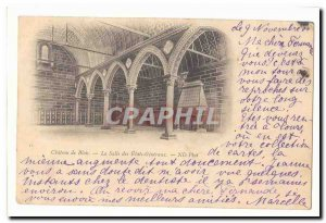 Blois Old Postcard Chateau THE halls of the States General