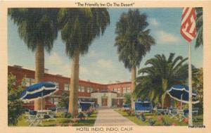 1940s Coachella Hotel Indio California MWM Linen postcard 767