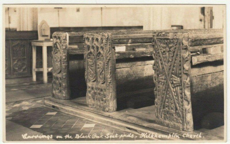 Cornwall; Carvings On Bench Ends, Kilkhampton Church RP PPC, Unused, c 1910's 2