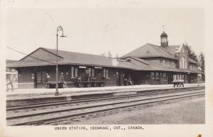 RP: Union Railroad Train Station , COCHRANE , Ontario , Canada , PU-1955