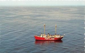 Portlant Lightship Light Ship Maine postcard