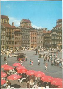 Poland, Warsaw, Warszawa, Rynek Starego Miasta, unused Postcard