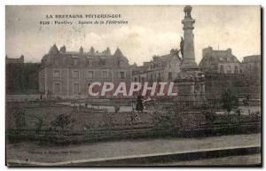 Postcard Ponitvy Old Square of the federation