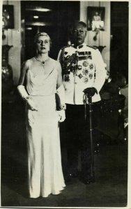 malay malaysia, JOHOR JOHORE, Sultan Ibrahim & Helen Bartholomew (1930s) RPPC (2