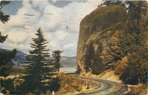 Washington~Shepherds Dell On The Columbia River Highway~1944 Postcard