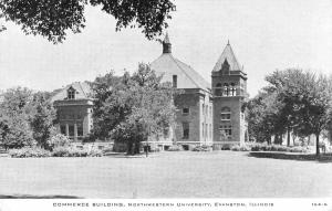 Evanston IL Early Childs B&W Postcard~Northwestern University Commerce c1907