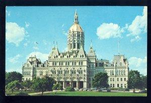 Hartford, Connecticut/CT Postcard, Bushnell Park, Old Cars