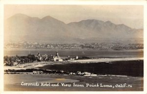 RPPC Coronado Hotel & View from Point Loma, California ca 1940s Vintage Postcard