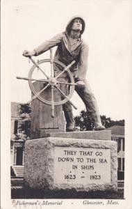 Massachusetts Gloucester Fisherman's Memorial 1935 Real Photo