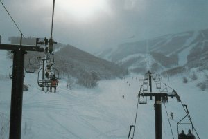 Skiing , PARK CITY , Utah , 50-70s ; Ski lift