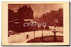 Old Postcard The Place Pigalle Paris in 1870 Adan