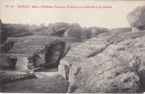 SEVILLA, Andalucia, Spain, PU-1912; Anfiteatro Romano, Entrada A Las Galerias...