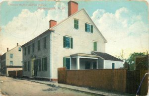 Postcard USA thomas bailey aldrich house portsmouth house street view front