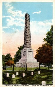Virginia National Soldiers Home Monument In National Cemetery Curteich