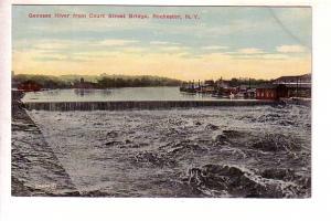 Genesee River from Bridge, Rochester, New York,