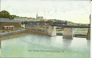 Bar Harbor Train Leaving Bangor, Me.