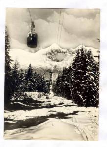 Vysoke Tatry , Slovakia, 30-40s ; Lanovka na Lomnicky stit (2634m)