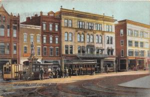 E96/ East Liverpool Ohio Postcard 1917 The Diamond Trolley Stores Peanut Cart 6