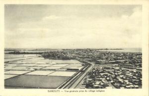 djibouti, General View Native Village (1930s)