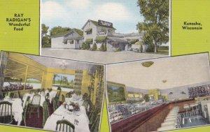 KENOSHA, Wisconsin, 1930-40s; Ray Radigan's Wonderful Food, 3-views