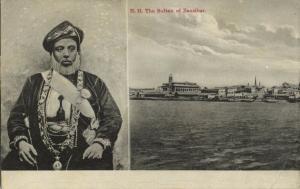 tanzania, ZANZIBAR, Sultan Hamoud bin Mohammed (1909) Stamp Postcard