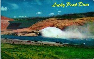 Vtg Cartolina 1960s Cromo Idaho Id Boise - Fortunato Peak Dam Non Spedite Mike