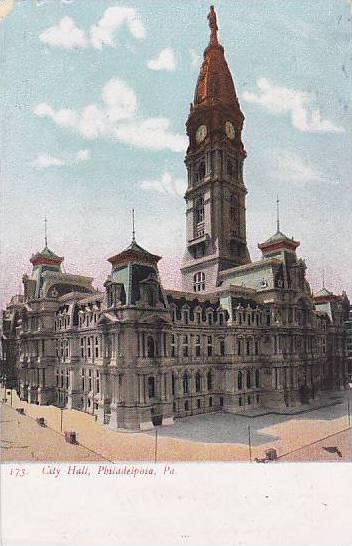 City Hall, Philadelphia, Pennsylvania, PU-1908