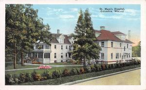 St. Mary's Hospital, Columbus, Wisconsin, Early Postcard, Unused