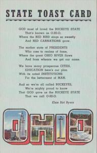 Ohio State Coast Card Curteich