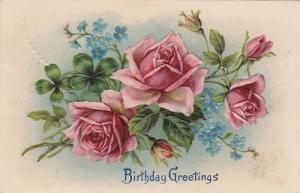 Birthday Greetings, Pink roses, PU-1909
