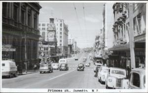 Dunedin NZ New Zealand Princes St. Real Photo Card/Postcard