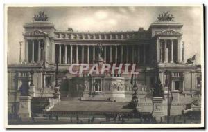 Old Postcard Monument To Vittorio Roma Emanueie
