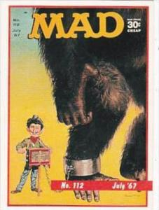 Lime Rock Trade Card Mad Magazine Cover Issue No 112 July 1967