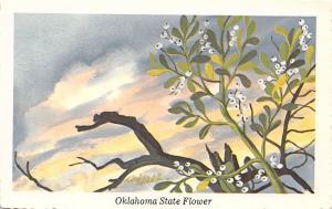 Oklahoma State Flower~Mistletoe Against Stormy Clouds~1968 Ken Haag Artist PC