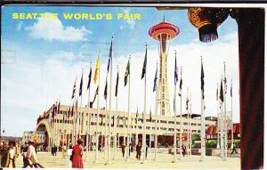 Seattle 1962 w/Space Needle Stamp and Cancel