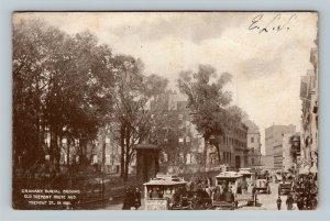 Boston MA-Massachusetts, Granary Burial Grounds Tremont, Vintage c1910 Postcard