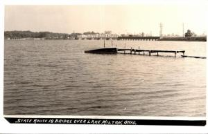 Ohio State Route 18 Bridge Over Lake Milton Real Photo