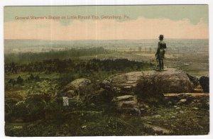 Gettysburg, Pa., General Warren's Statue on Little Round Top