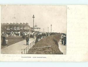 Pre-1907 BANDSTAND Folkestone - Kent - North Downs Uk hJ6534
