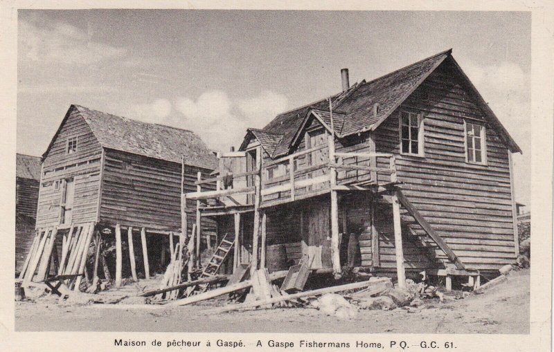 GASPE, Quebec, Canada, 1930-1950s; A Gaspe Fishermans Home