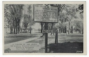New Castle, Delaware, Vintage Postcard View of A Corner of The Green