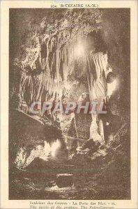 Postcard Old St Cesaire (AM) Interior Caves Porte des Fees